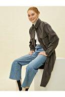 Koton Kadın Gömlek Ceket Dügmeli