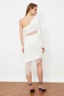 TRENDYOLMİLLA Ekru Bel Detaylı  Elbise TPRSS20EL2360