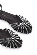 Marjin Kadın siyah Günlük Sandalet