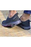 Lumberjack Kadın Gri-mor Renk Hafif Rahat Kemik Çıkıntısı Için Harika Patik Sneaker Ayakkabı Panto