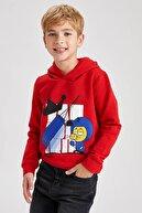 Defacto Erkek Çocuk Kral Şakir Lisanslı Lisanslı Kapüşonlu İçi Yumuşak Tüylü Sweatshirt S9390A620WN