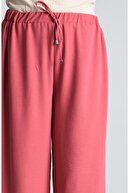modayseli Kadın Gül Kurusu Airobin Beli Lastikli Pantolon