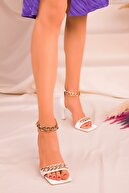 Soho Exclusive Beyaz Kadın Klasik Topuklu Ayakkabı 16274