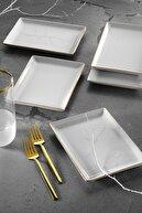 Porland Modern Altın Fileli Kahvaltı Takımı 18 Parça