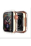 GREGOSS Apple Watch 1 2 3 4 5 6 Se Serisi ( 44mm ) 360 Tam Koruma Şeffaf Silikon Kılıf