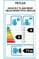 Petlas 225/45 R17 94W XL Velox Sport PT741 Oto Lastik (Üretim: 2021)