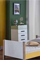 İstikbal Cool Şifonyer Beyaz / Yeşil