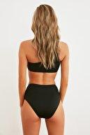 TRENDYOLMİLLA Siyah Yüksek Bel Mesh Detaylı Bikini Altı TBESS21BA0179