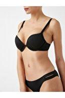 Koton Kadın Siyah Maximizer Dolgulu Basic Bikini Üstü