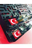 kcc 2 Adet Türk Bayraklı Araç Logo Isim Lazer Kesim1 Takmatik Pleksi Plakalık Takım