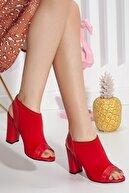 Hayalimdeki Ayakkabı Flora Kırmızı Topuklu Ayakkabı