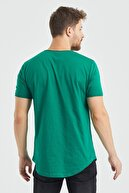 Tarz Cool Erkek Yeşil Çimen Yeşili Pis Yaka Salaş T-shirt