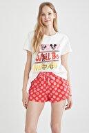 Defacto Mickey Mouse Lisanslı Pijama Takımı