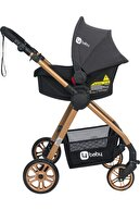 4 Baby Esse Model Gold Travel Bebek Arabası Antrasit Yağmurluk