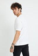 XHAN Beyaz Petek Örgü Waffle Kumaş Oversize T-shirt 1yxe1-44876-01