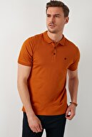 Buratti Erkek Taba Kısa Kol Düğmeli Polo Yaka T-Shirt