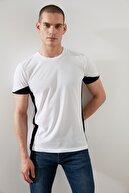 TRENDYOL MAN Beyaz Erkek Slim Fit Baskılı T-Shirt TMNSS20TS0623