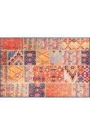ARTLOOP Patchwork Desenli Salon Halısı, Jazz Şönil  pamuk-polyester  Renkli Halı Al 332