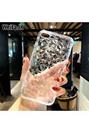 Go Aksesuar Apple Iphone 7 Plus / 8 Plus 3d Dokulu Şeffaf Renkli Piramit Desen Kılıf
