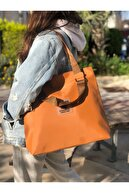 Lebina Kadın Taba Shopper Omuz Çantası