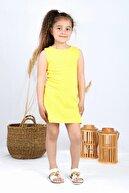 DökmeciShop Kız Çocuk Sarı Tunik Elbise