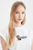Defacto Kadın Pinokyo Lisanslı Relax Fit Kolsuz Tişört