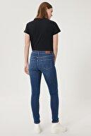 Wrangler Kadın Koyu Mavi Skinny Fit Denim Esnek Jean Kot Pantolon