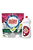 Fairy Ramazan Bereket Paketi-Özel Seri (Platinum 65'li Bulaşık Makinası Kapsülü+ 1350ml Narlı Sıvı)