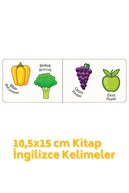 Kids Babies Meyveler Sebzeler Türkçe-ingilizce Kelimeler 10,5x15cm Kitap