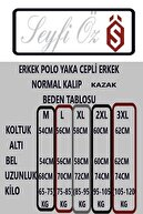 SEYFİÖZ TRİKO Polo Yaka Cepli Normal Kalıp Erkek Kazak Yakalı M L Xl 2xl 3xl