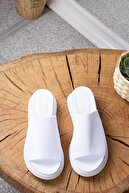 Fox Shoes Kadın Beyaz Triko Kumaş Terlik K610002604