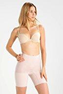 Emay Kadın Uzun Paçalı Seamless Boxer Korse 3003 Beyaz