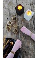 Esafe Home 4'lü Nikel Krom Kaplama Metal Peçete Yüzüğü