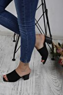 ALBANSHOES Kadın   Triko Siyah Terlik