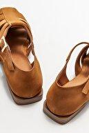 Elle Kadın Taba Deri Düz Ayakkabı