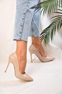 Shoeberry Kadin Ten Cilt Klasik Topuklu Stiletto