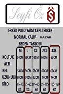 SEYFİÖZ TRİKO Erkek Yeşil Polo Yaka Cepli Normal Kalıp Yakalı Kazak M L XL 2XL 3XL