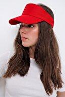 Trend Alaçatı Stili Kadın Kırmızı Tenis Şapkası ALC-A2197