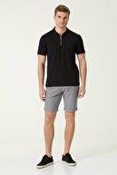 Network Erkek Slim Fit Siyah Polo Yaka T-shirt 1077935