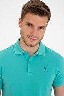 Pierre Cardin Mint Yeşili Slim Fit Basic Polo Yaka T-Shirt