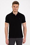 Pierre Cardin Siyah Slim Fit Basic Polo Yaka T-Shirt