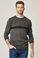 Altınyıldız Classics Erkek Gri Standart Fit Günlük Rahat Bisiklet Yaka Spor Sweatshirt