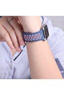 Microsonic Microsonic Watch Se 40mm Uyumlu Rainbow Sport Band Kordon Lacivert Beyaz