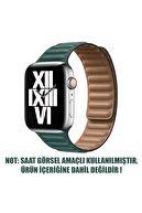 Microsonic Microsonic Watch Series 3 38mm Kordon Leather Link Band Koyu Yeşil