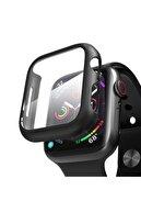 Microsonic Microsonic Watch Series 4 40mm Kılıf Matte Premium Slim Watchband Siyah