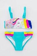 Penti Kız Çocuk Rainbow Unicorn Bikini Takımı