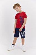 US Polo Assn Erkek Çocuk Kırmızı Kapri Takım