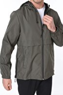 Ghassy Co Erkek Rüzgarlık/yağmurluk Outdoor Yırtmaç Detaylı Mevsimlik Haki Spor Ceket