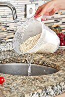 Ensezon Tutma Kulplu Pirinç Yıkama Süzgeci Plastik