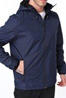 Ghassy Co Erkek Rüzgarlık/yağmurluk Outdoor Omuz Detaylı Mevsimlik Lacivert Spor Ceket